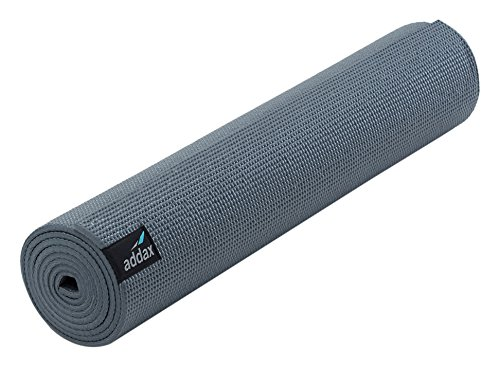 Addax ADXYOGA Esterilla para Yoga, Unisex Adulto, Grafito-Caja de 10, 4 mm