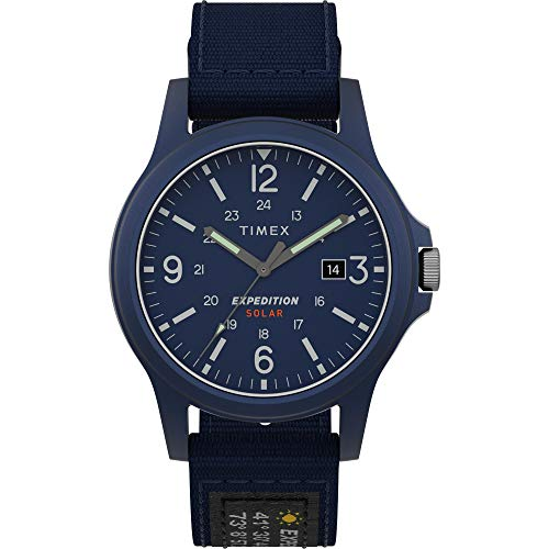 Timex Men's TW4B18900 Expedition Acadia Solar 40mm Blue Fabric Strap Watch