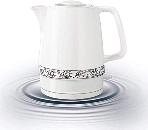 Hervidor eléctrico de cerámica, tetera de agua inalámbrica de 1,7 litros, apagado...