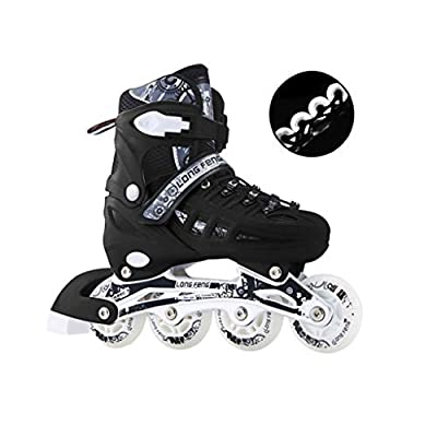 4 Size Adjustable Inline Skates for Kids and Adults Outdoor Men and Women Inline Roller Skates Beginners Boys and Girls Roller Blades Pu Mesh