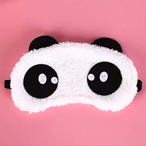 Cute Face White Panda Eye Mask Sleep Mask, Eye Cover 3 Styles Eyeshade Shading Sleep Cotton Goggles Eye Mask, Pour hommes, femmes et enfants Pr