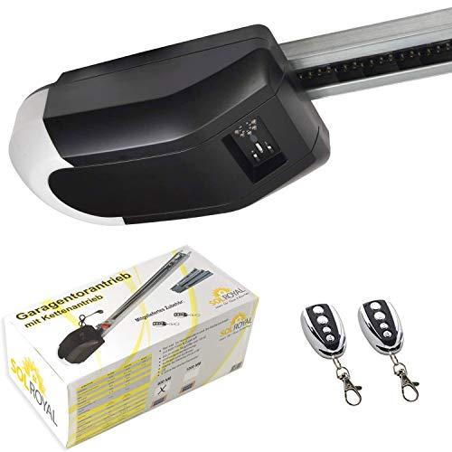 Sol Royal Garagentorantrieb SolTec GT-1000-15 für Schwing- & Roll-Tore bis 15m² - elektrischer Torantrieb - Garagentoröffner mit 2x Fernbedienung – Garagentor Handsender