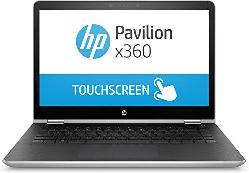 HP Pavilion x360 14-ba037nl - Notebook Convertibile, Processore i3-7100U, 8 GB di RAM DDR4, SSD da 256 GB, Display da 14' FHD, Argento Naturale [Layout Italiano]