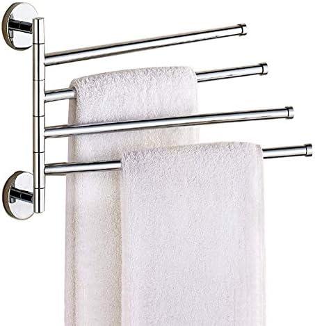 WGFGXQ Towel Max 57% New mail order OFF Rack Swivel Rail Steel Bath Stainless Wa