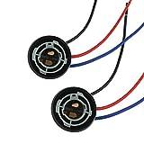 SPRINGHUA 2pcs 1157 Bombilla Socket Bay15D Tenedor de lámpara P21 / 5W Adaptador Conector de Base para Luces de Freno Accesorios para automóviles (Color : Style 2)