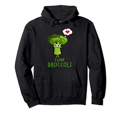 Ich liebe Brokkoli-Obst und Gemüse Pullover Hoodie