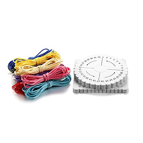 XIAOXINGXING 9Pcs/Set Waxed Cord Cotton Thread String Strap Cord Rope Disc Disk For Jewelry Making Kits DIY Bracelet Necklace Supplies Sets (Color : 1 set)