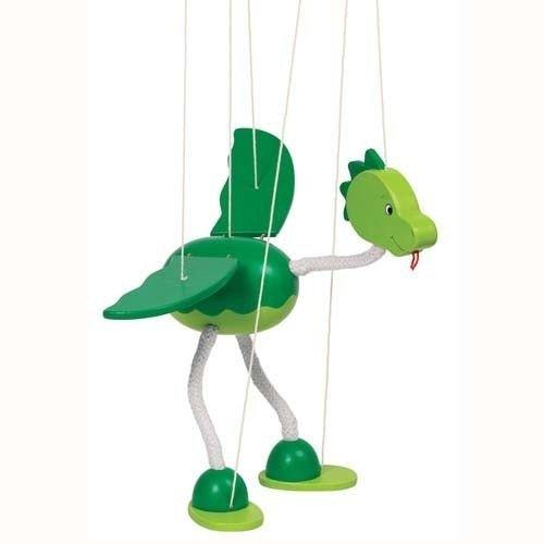 Goki 51942 Marionette Dinosaurier Nepomuk Puppe