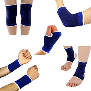 HealthyNeeds SKST 5 Pair/Set Sport Protector Basketball Volleyball Knees Pads Protection Ankle