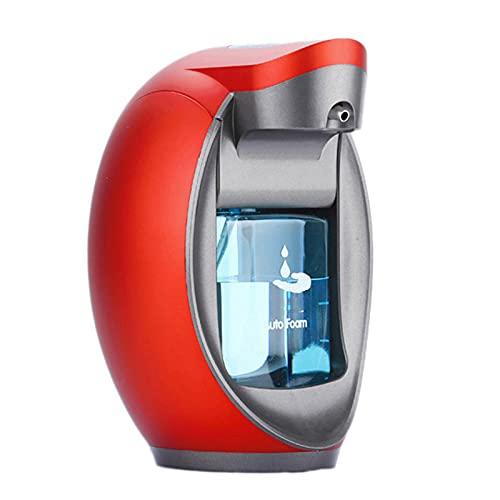 YGQNH Dispensadores De Jabón Sin Contacto Espuma Automática De Baño, Sensor Infrarrojo Eléctrico Loción Líquida Botella De Jabón para Manos, Fácil De Usar(Color:Rojo)