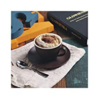 Meidly 200Mlスタイルボーンコーヒーカップとソーサーセットセラミックティーカップギフト、200Ml、チョコレート色