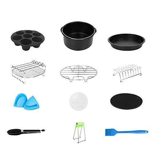 Kit de 12 accesorios para freidora de aire caliente profunda con barril para tartas de 7 pulgadas