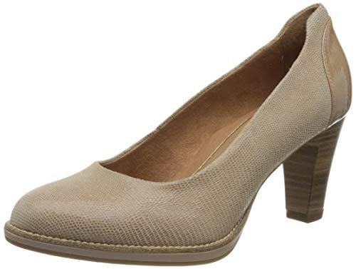 Tamaris Damen 1-1-22425-24 Pumps, Braun (Antelope STR. 333), 38 EU