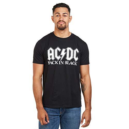 AC/DC Back In Black Camiseta, Negro, L para Hombre