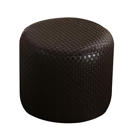 Footstool leren voetenbankje, klein, voetensteun, poef, draagbaar, zacht, gemakkelijk op te bergen, materiaal PU 31 x 28 cm