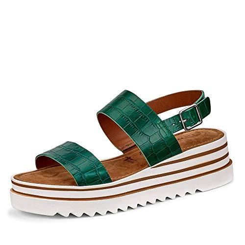 Tamaris Damen 1-1-28007-24 790 Sandale mit Absatz, Grün, 36 EU