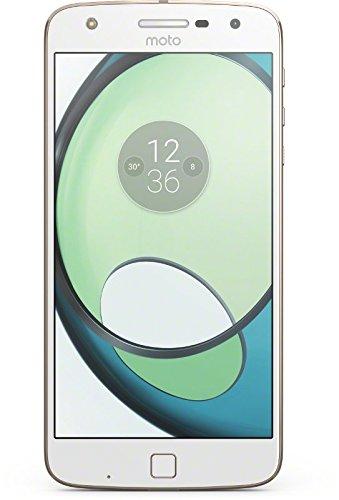 """Lenovo Moto Z Play Smarthphone da 5.5"""" Full HD AMOLED, 3GB RAM, 32 GB ROM, Snapdragon 625 Octa-core 2 GHz, 4G, Camera da 16MP, Android 6, Bianco/Oro"""
