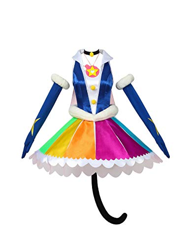 WOSHOW Anime Pretty Cure,PreCure Star Twinkle Cure Cosmo Mao Cosplay Costume Adult Costume Custom Made Full Set Dress (Custom Size)