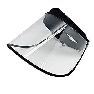 41fETlvESzL. SS300  - SDBRKYH Transparente de protección Careta, Protector Facial Protección Cap Parasol Resistente a los arañazos Total Cubierta Protectora Exterior Personal de protección Sombrero