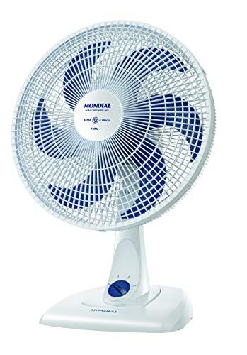 Ventilador de Mesa 40cm Branco/Azul, Mondial - NV-45-6P-NP
