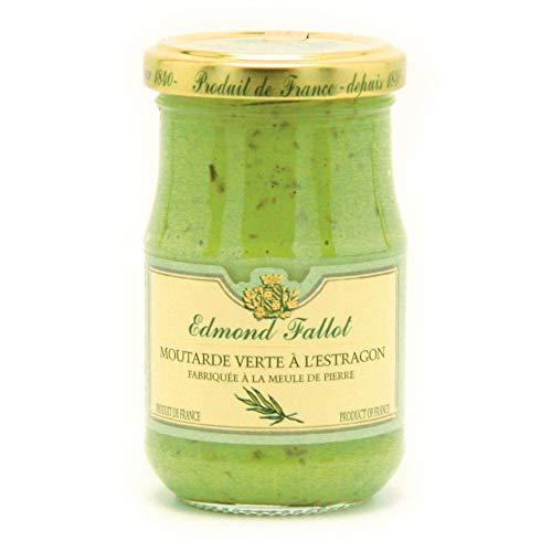 Dijon Senf mit Estragon, grün, fein, Fallot, 190 ml