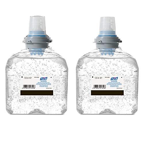 PURELL Advanced Gel Idroalcolico/disinfettante mani, Richariche per PURELL TFX Dispenser Touch-Free 2x1200ml