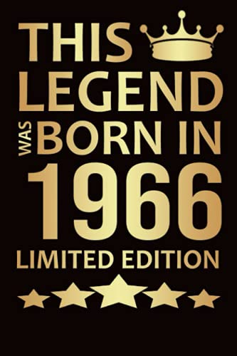 This Legend Was Born In 1966 Limited Edition: 55th Birthday Gifts 55 Year Old Gift Ideas | 55th Birthday Greeting Card Alternati