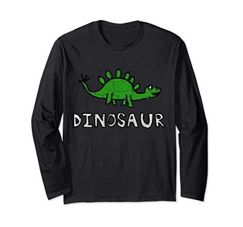 Lindo del Dinosaurio Stegosaurus Manga Larga