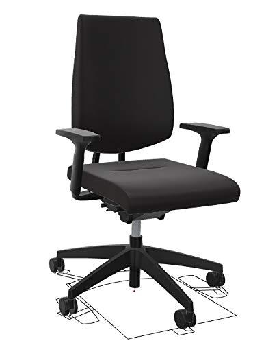 Sedus Black Dot bd-103 Schreibtischstuhl mit hoher Rückenlehne und Polster