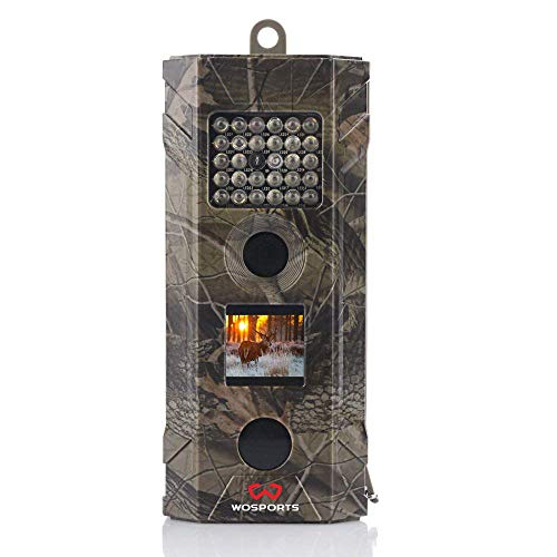 Trail Camera, 2018 Upgraded WOSPORT 1080P Hunting Game Camera, Wildlife Camera with Upgraded 850nm IR LEDs Night Vision 50ft for Home Security Wildlife Monitoring/Hunting