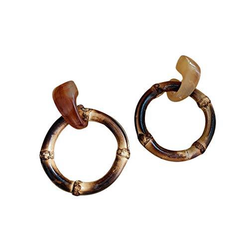 N/N Ohrring Frauen Mode Geometrische Große Kreis Bambus Ohrringe Harz Acryl Ohrringe