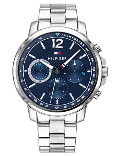 Tommy Hilfiger Herren Multi Zifferblatt Quarz Uhr mit Edelstahl Armband 1791534