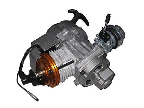 Big Bore 6 Tuning Motor Pocketbike Motor Dirtbike Gold + 15 / 19 mm Vergaser Sport + Tuning Luftfilter Dirtbike Motor
