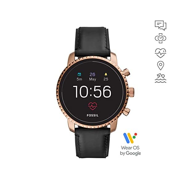 Fossil Smartwatch Pantalla táctil para Hombre de Connected con Correa en Piel FTW4017 3