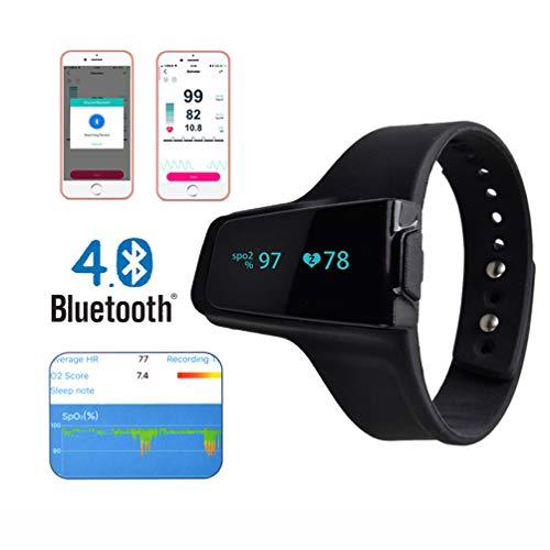 LIAO Oximeter medizinische, tragbare Sauerstoffmessgerät Herzfrequenz/Pulsfrequenz überprüfen SpO2, PR, Pulswellenform/Bluetooth-Verbindung