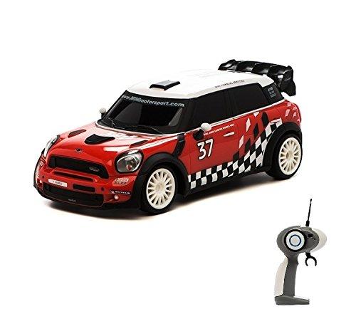 HSP Himoto Mini Countryman WRC - RC ferngesteuertes Lizenz-Fahrzeug im Original-Design mit Beleuchtung und Turbo-Funktion, Modell-Maßstab 1:16, Ready-to-Drive inkl. Fernsteuerung