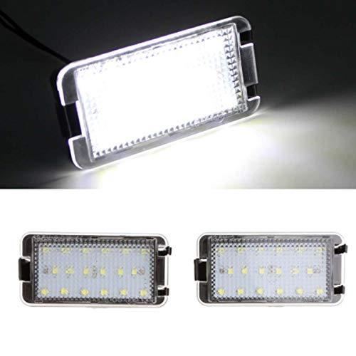 GOFORJUMP Luz de matrícula LED Super Brillante 2X18SMD Canbus para 99-05 S/Eat Leon 1M 04-09 Altea Arosa Córdoba MK1 MK2 Ibiza Toledo 5P