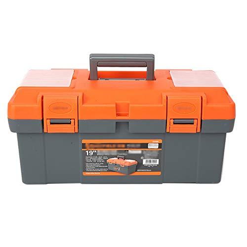 YIN YIN - Caja de almacenamiento de herramientas - reparación de piezas de automóviles multifunción caja de almacenamiento de herramientas uso familiar maleta portátil doble,Caja de herramientas