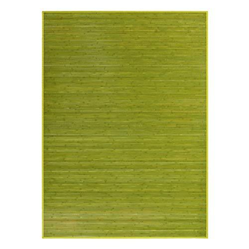 Alfombra de Salón o Comedor, Verde, de Bambú Natural 180 X 250cm Natur, 180x250 - Hogar y Más