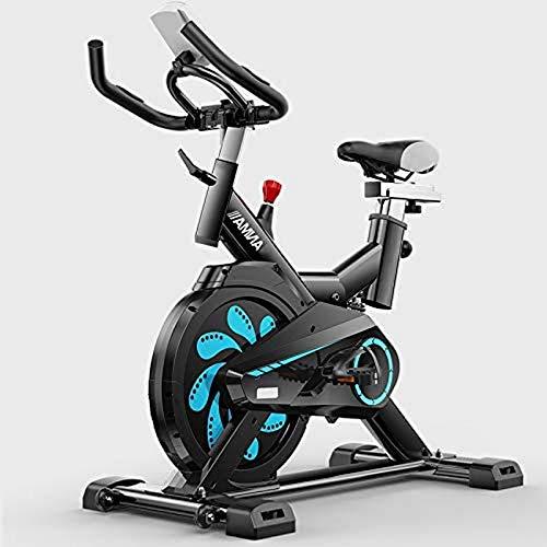 LJYY Bicicleta estática Profesional para Interiores: Eventos de Video y aplicación multijugador, apoyabrazos Acolchado, Asiento cómodo, manubrios Ajustables, Sistema de transmisión por Correa de