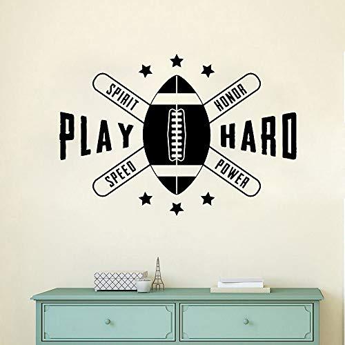 jiuyaomai JungenzimmerAufkleber American Football BallJungenzimmer Wandaufkleber RemovableVinyl Wall Stickers61x42cm