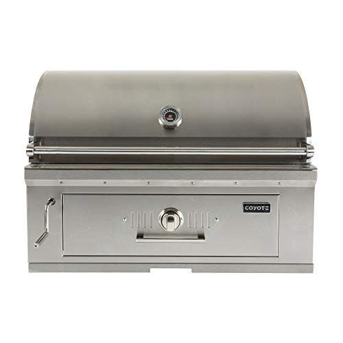 Coyote C1CH36 36 Inch Wide 875 Square Inch Cooking Area Stainless Steel Built in Charcoal Grill