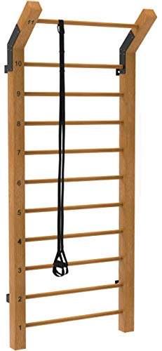 Limitless XVP Fitness Swedish Ladder Wood Stall Bar Suspension Trainer – Physical Therapy &...