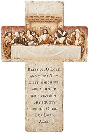 Joseph s Studio by Roman The Last Supper Wall Cross 13 25 H Resin and Stone Religious Gift Wall product image
