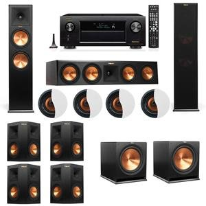 Best Review Of Dolby Atmos 7.2.4 Klipsch RP-280F Tower Speakers R115SW with Denon AVR-X3200W