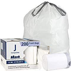 SIMPLEHUMAN CODE J ALTERNATIVE - Custom trash bag liners for a perfect fit to the code J trash can. TEAR RESISTANT - Thickness of 1. 2 Mil makes a great alternative and equivalent replacement trash bags. PERFECT FIT - Our liners are designed to fit p...