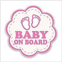 WYZDGTD 車のステッカー花のグラフィックかわいい赤ちゃんのボード装飾車と赤ちゃん2個16x16CM缶カスタム
