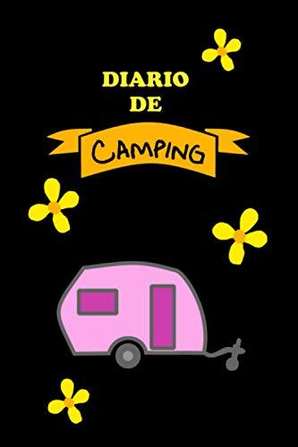 Cuaderno de diario de camping con caravana y flores - Accesorio caravana,...