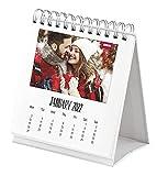 Shot2go 2022 Mini Desktop Photo Calendar - Holds 12 2x3' Photos and Mini Instant Prints