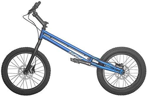 MU 20 Pulgadas Bmx Trial Bicicleta/Bici de Ensayo para Principiantes Y Avanzados, Frame Crmo Y Tenedor, con Freno,Azul,Versión de Alto